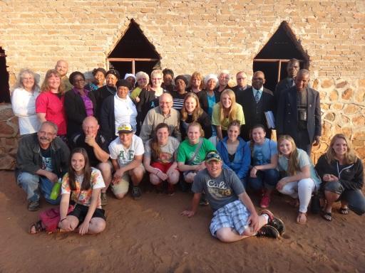 Visitors to Lekubu Parish