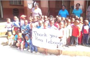 SA creche thankyou